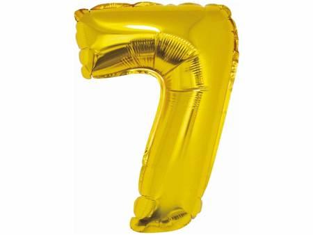 """Balon foliowy """"Cyfra 7"""", złota, 35 cm FG-C35Z7"""