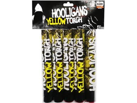 Flary meczowe żółte Hooligans Torch P40ZL25 - 5 sztuk