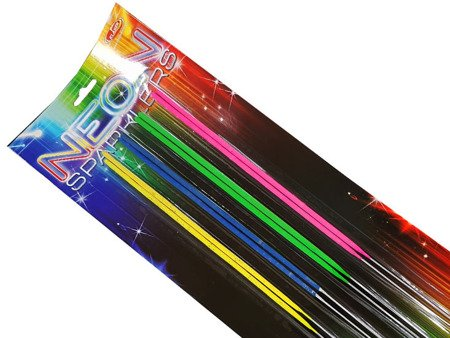 Neon sparklers 40cm VP40N - 8 sztuk