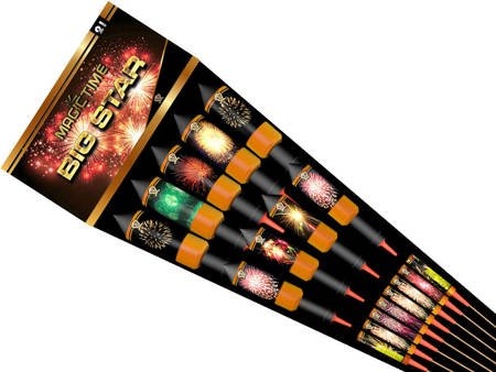 Zestaw rakiet Big Star P9810 (whistling to bang) - 21 sztuk