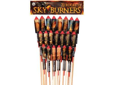 Zestaw rakiet Sky Burners 04658 - 21 sztuk